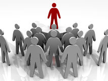 Leader leading people Stock Images