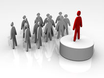 Leader leading people Royalty Free Stock Photo