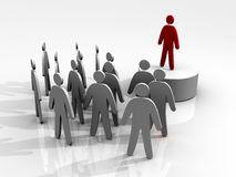 Leader leading people Royalty Free Stock Photography