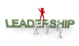 Leader leading the rest Royalty Free Stock Photo