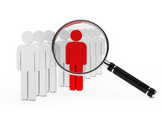 Leader magnifying glass Royalty Free Stock Photography