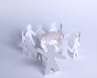 A leader man on abstract global map Royalty Free Stock Image