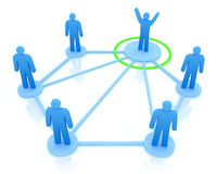 Leader is managing his work team. Network concept Stock Photography