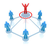 Leader is managing his work team. Network concept Royalty Free Stock Image