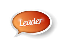 Leader message communication bubble Royalty Free Stock Images