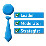 Leader Moderator Strategist Stock Image