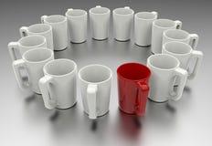 Leader mug concept Royalty Free Stock Photography