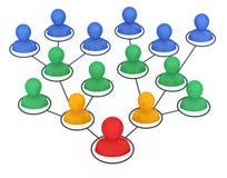 Leader of organization. Concept 3d illustration Vector Illustration