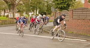 Leader of the pack. Cycle time trials. Royalty Free Stock Photos