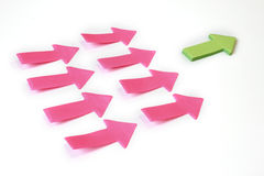 Leader paper arrows bussiness concept. Royalty Free Stock Photos