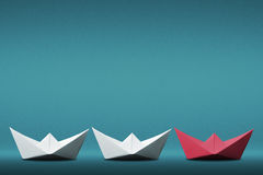 Leader paper boat concept Stock Image