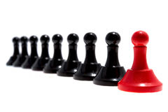 Leader of pawns Royalty Free Stock Photography