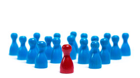 Leader. People are following their leader, loosing their individuality Stock Photography