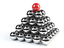 Leader piramid. 3d Ball's Piramid with clipping path Royalty Free Stock Image
