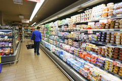 Leader Price supermarket interior Stock Image
