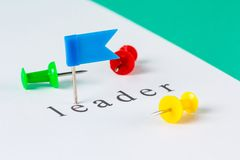 Leader push pin Royalty Free Stock Photos