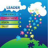 Leader Qualities royalty free illustration
