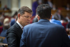 Leader of the Radical Party of Ukraine Oleg Lyashko. KIEV, UKRAINE - Jun 02, 2016: Leader of the Radical Party of Ukraine Oleg Lyashko during the Session of the royalty free stock image