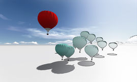 The Leader red hot air balloons Royalty Free Stock Image