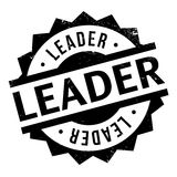 Leader rubber stamp Royalty Free Stock Photos