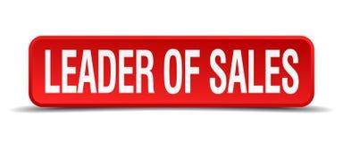 Leader of sales button. Leader of sales square 3d realistic isolated web button. leader of sales vector illustration