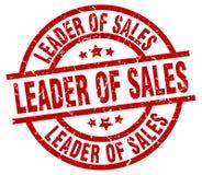 Leader of sales stamp. Leader of sales grunge vintage stamp isolated on white background. leader of sales. sign stock illustration