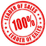 Leader of sales rubber stamp Stock Photos