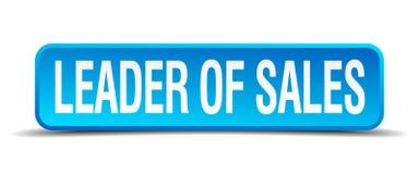Leader of sales button. Leader of sales square 3d realistic isolated web button. leader of sales royalty free illustration