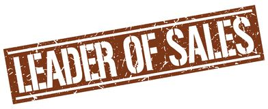 Leader of sales stamp. Leader of sales square grunge sign isolated on white. leader of sales stock illustration
