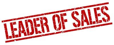 Leader of sales stamp. Leader of sales square grunge sign isolated on white. leader of sales vector illustration