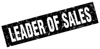 Leader of sales stamp. Leader of sales grunge vintage stamp isolated on white background. leader of sales. sign vector illustration