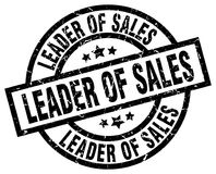 Leader of sales stamp. Leader of sales grunge vintage stamp isolated on white background. leader of sales. sign royalty free illustration
