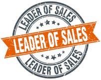 Leader of sales stamp. Leader of sales round grunge vintage ribbon stamp. leader of sales vector illustration