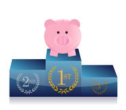 Leader in savings concept. Illustration design over a white background Royalty Free Stock Photos
