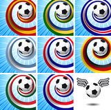 Leader of the set – soccer design elements. Stock Photos