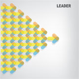 Leader sign Royalty Free Stock Photo