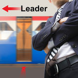 Leader on the sky train station Royalty Free Stock Image