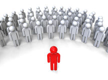 Leader speaking. 3D render image representing a leader talking in front of a crowd Stock Photography