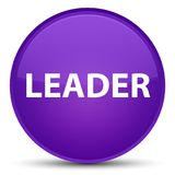 Leader special purple round button Stock Photography