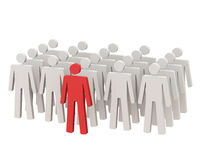 Leader standing in front of the crowd. Stock Photography