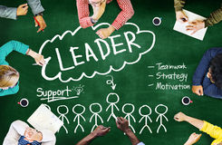 Leader Support Teamwork Strategy Motivation Concept Royalty Free Stock Photos