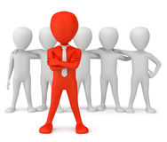 The leader of the team. 3d image. On a white background Royalty Free Stock Images