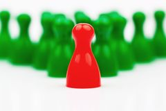 Leader of the team. Chief and entrepreneur. Royalty Free Stock Images