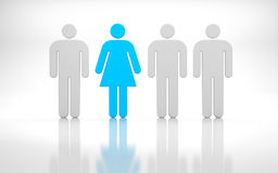 Leader of team. Men and woman Royalty Free Stock Images