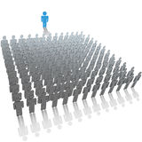 Leader to large audience group of people Royalty Free Stock Images
