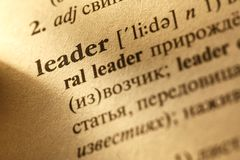 Leader translation from English into Russian Stock Photography