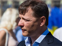 Leader Ukrainian Radical Party Oleg Ljashko. KIEV, UKRAINE - MAY 9, 2013 : Leader Ukrainian Radical Party 'Ljashko' Oleg Valeryovich Ljashko on Khreschatyk stock photo
