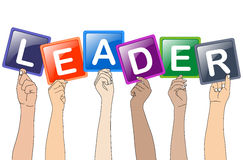 Leader. Vector illustration of hands holding leader Royalty Free Stock Image