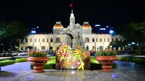 Leader of Vietnam. Statue of Ho Chi Minh with Children - Ho Chi Minh City (Saigon) Vietnam stock video footage