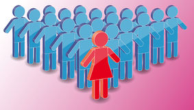 Leader Woman With Men Group Royalty Free Stock Image